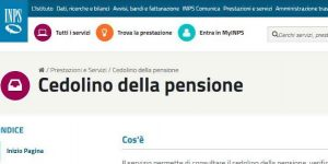 inps cedolino pensione